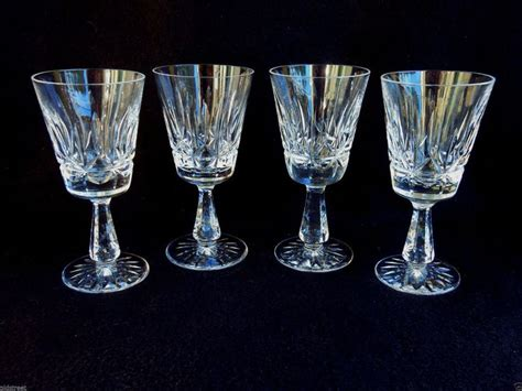 waterford cut glass quot rosslare quot white wine glasses 5 5 8 waterford wine glasses marquis by waterford markham 4pc