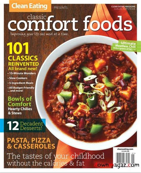list of comfort foods clean eating comfort foods 2012 187 download pdf magazines