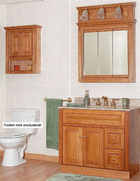 oak bathroom cabinets oak medicine cabinet with lights roselawnlutheran