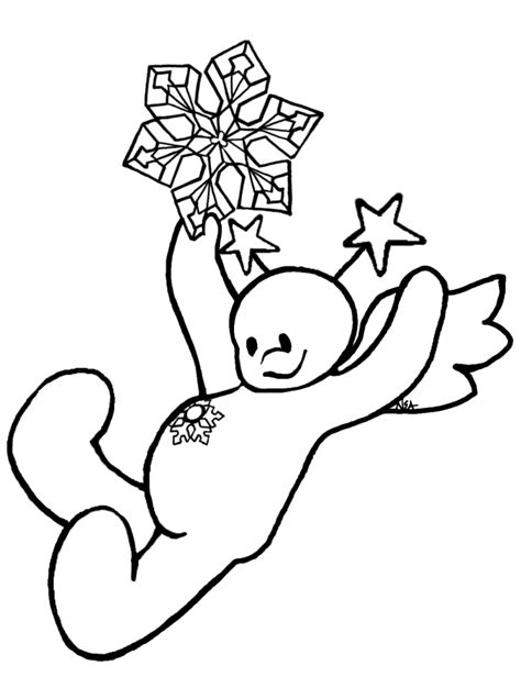 snow angel 10 black and white christmas coloring and craft