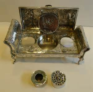 antiques atlas sterling silver novelty inkwell desk