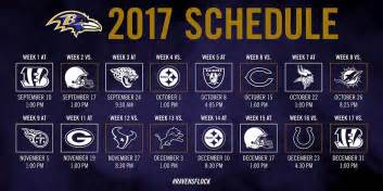 Printable Nfl Schedule 2017 Baltimore Ravens On Twitter Quot The 2017 Schedule Has