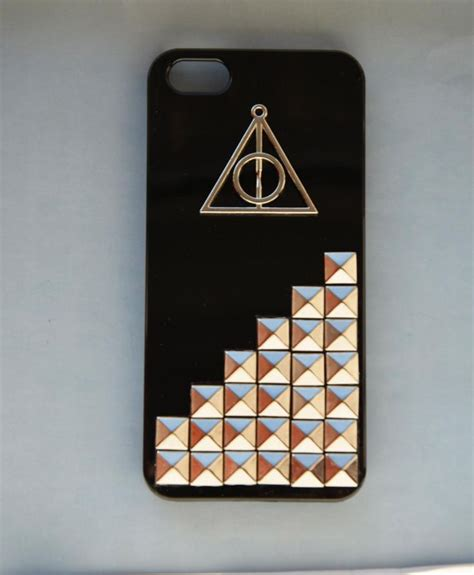 Casing Iphone X Harry Potter And The Deathly Hardcase Custom Cove harry potter deathly hallows iphone 5 silver studded iphone 5 iphone 5 in mint