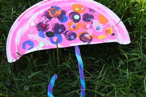 Paper Plate Umbrella Craft - paper plate umbrella craft happy hooligans