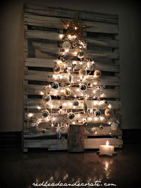 christmas decorations made from wood pallets pallet tree can decorate