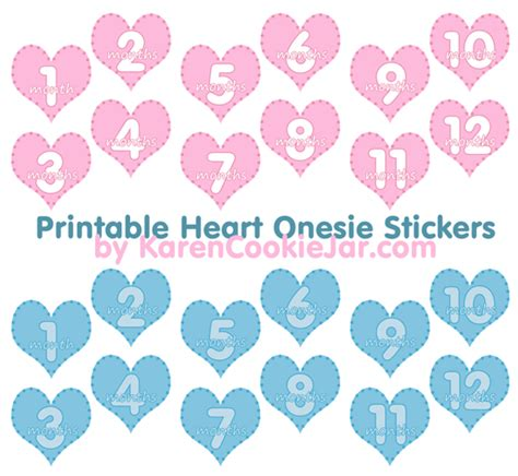 printable month numbers for baby 9 best images of printables for onesies month stickers