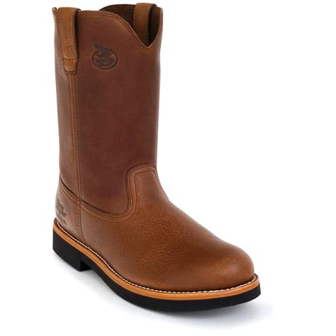 pull on work boots s 174 wellington pull on work boots brown