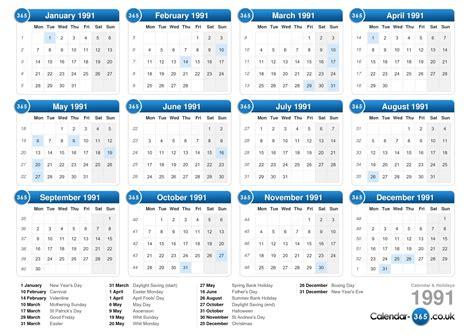 Calendrier Scolaire 2018 Mauritius Calendar 1991