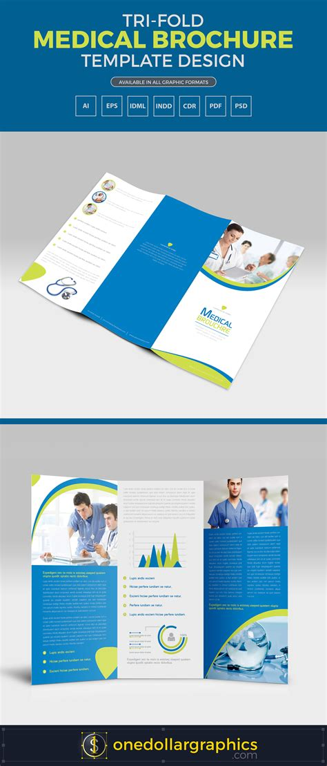 tri fold medicine tri fold medical brochure template design in ai eps pdf