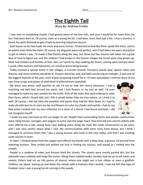 free printable english comprehension worksheets grade 8 reading worksheets for 8th grade worksheets releaseboard