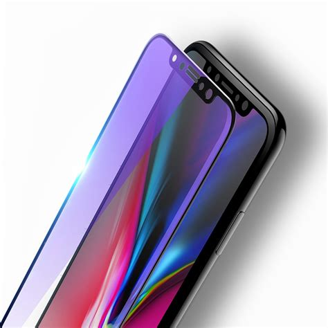 Rock 3d Curved Soft Edge Anti Blue Light Tempered Glass For Iphone X other accessories rock 0 23mm 3d soft edge anti blue light tempered glass screen protector
