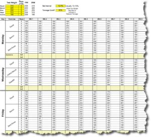 Workout Spreadsheets by Weight Loss Programs 5x5 Workout Routine For