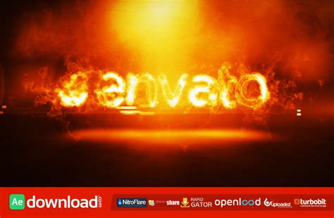 fire logo intro videohive project free download free