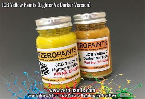 jcb painting jcb yellow lighter paint 60ml zp 1353 zero paints