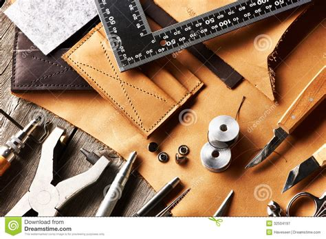 leather crafting tools stock image image  craft