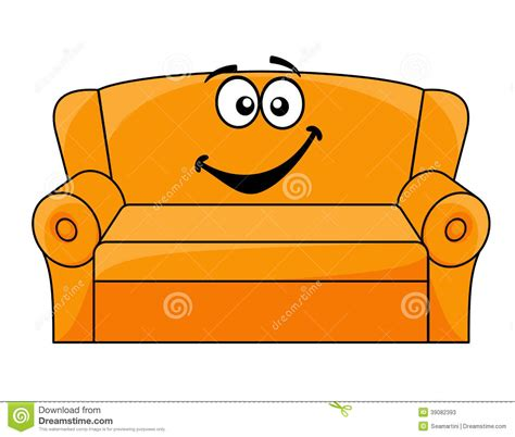 Armchair Design by Cartoon Upholstered Couch Stock Vector Image 39082393