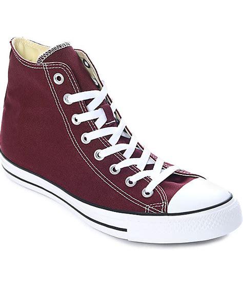 chuck taylors shoes converse chuck all burgundy shoes zumiez