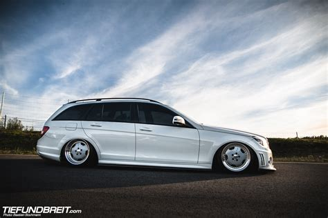 bagged mercedes wagon class act bagged w204 wagon from sweden
