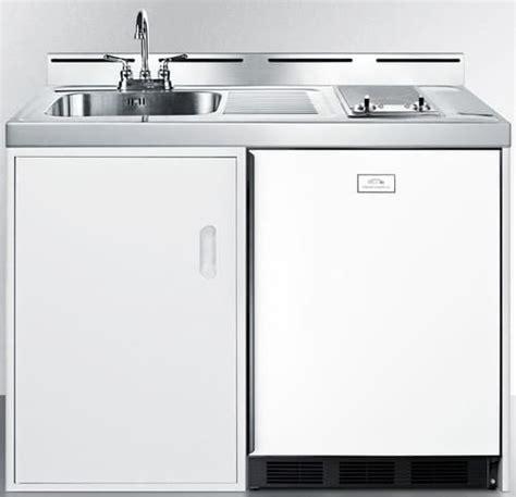 48 inch stainless steel sink summit c48elglass0 48 inch combination kitchen with 2