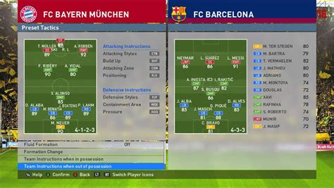 best for motion bayern munich best formation pes 2016