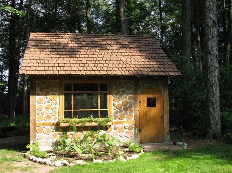 build a cottage cordwood cottage garden shed in green bay wisconsin