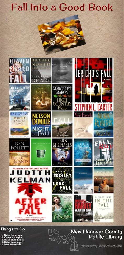 Fall Into A Good Book Infographic Readersadvisory Goodreads The Librarian S List Pinterest Fall Into A Book Template