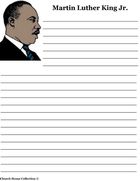 Martin Luther King Jr I A Essay by Free Coloring Pages Of Primary Lined Paper
