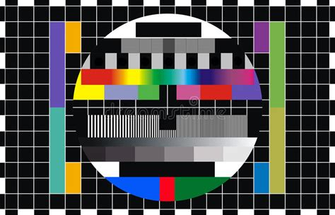 tv test pattern stock images royalty free images tv screen test stock illustration illustration of