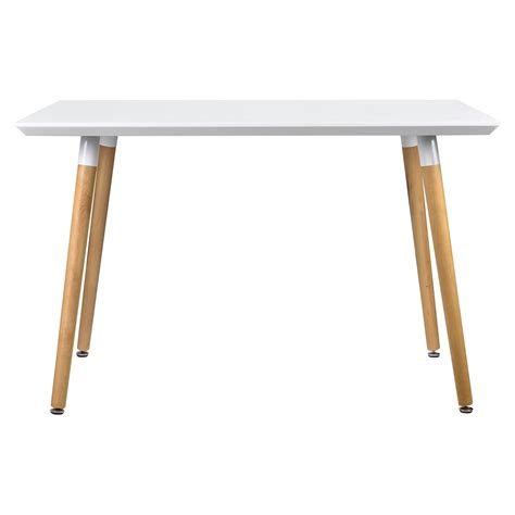 ebay tavolo en casa 174 tavolo da pranzo 120x80cm bianco opaco rovere
