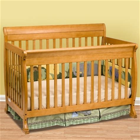 Oak Sleigh Crib kalani 4 in 1 convertible sleigh crib in honey oak m5501o