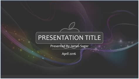 free 3d apple powerpoint template 8391 sagefox