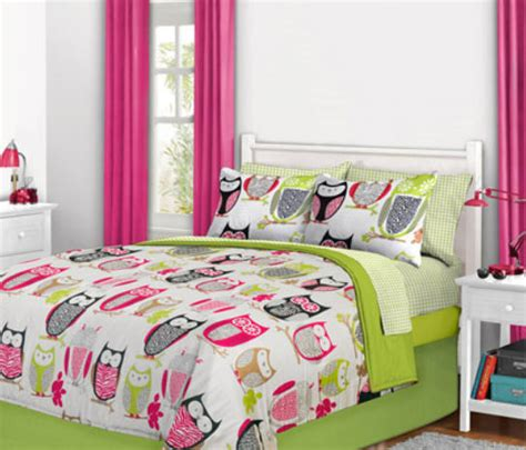 nature hoot owl girls twin single comforter set  piece bed   bag ebay