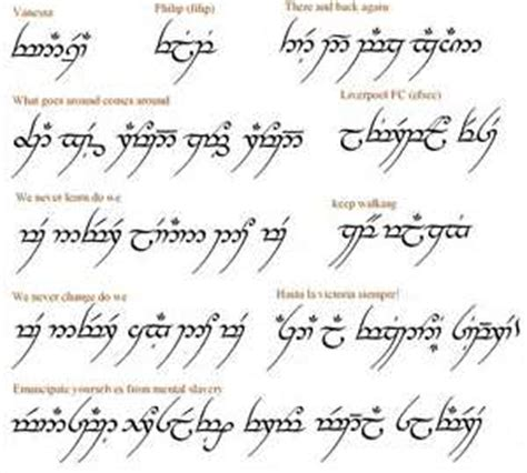 tattoo fonts elvish phrase translator for the elvish font arabic words or
