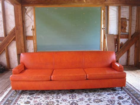 orange couch for sale sale large midcentury modern burnt orange atomic eames era