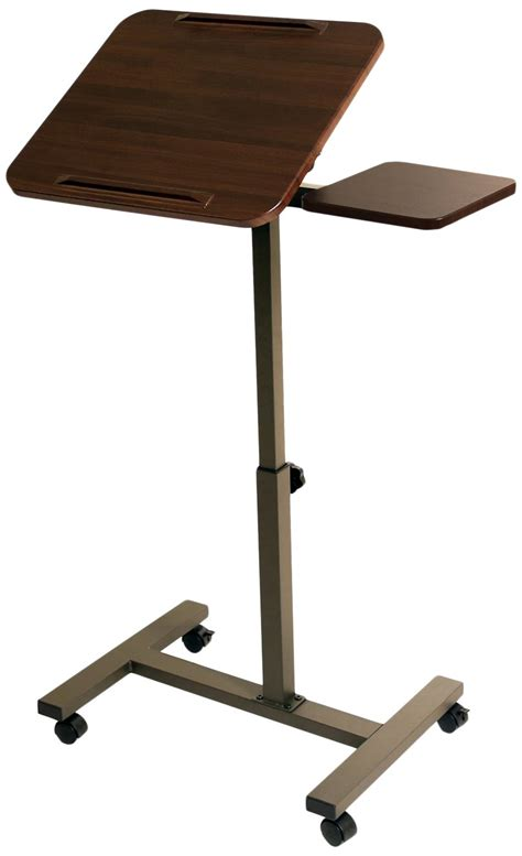 mobile laptop desk seville classics mobile laptop desk cart with side table