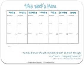 printable weekly menu template 7 best images of school menu template printable school