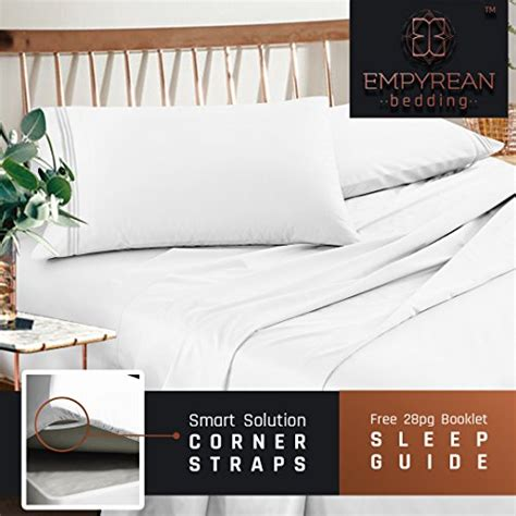 premium bed linen premium sheets set white hotel luxury 4 bed