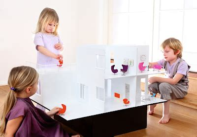 Further Proof Of Designers Current Obsession With Dolls by New Modern Dollhouse Is A Reproduction Of Arne Jacobsen S