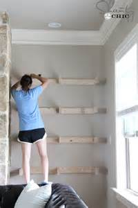 how to put up floating shelves diy floating shelves for my living room shanty 2 chic