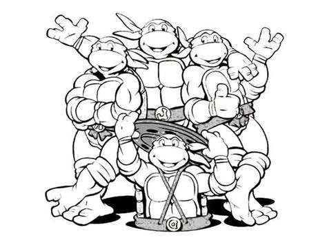 teenage mutant ninja turtles coloring pages enjoy