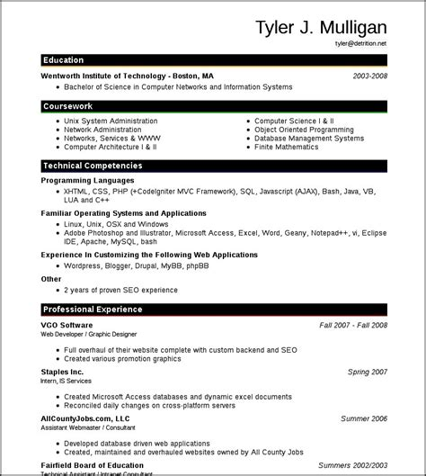 modern resume template word 2007 how to format resume in microsoft word 2007 tomyumtumweb