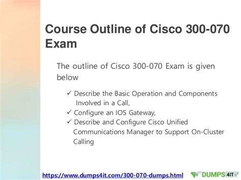 Cisco Course Outline by Secrets For Passing 300 070 Cisco Ccnp Collaboration Successfull