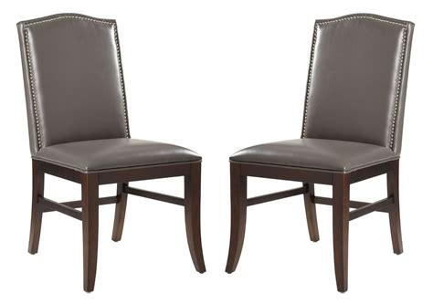 Leather Chair Dining Set Maison Leather Dining Chair Set Of 2 From Sunpan 28608 Coleman Furniture