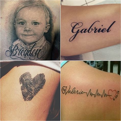 tattoo son s name ideas 14 tattoo ideas for parents wanting to honor their kids