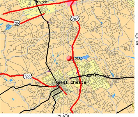 zip code map western pa 19380 zip code west chester pennsylvania profile