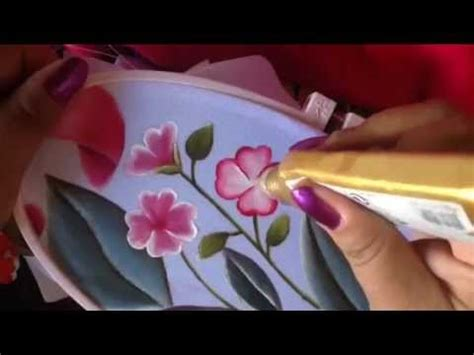 cenefas de flores para pintar en tela pintura en tela cenefa de toalla florecitas 6 con cony