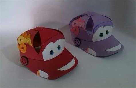 como hacer gorras de fomix del cars moldes gorra de cars en foamy goma eva imagui