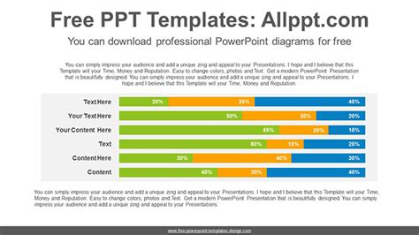 stacked diagrams for powerpoint stacked horizontal bar chart powerpoint diagram template