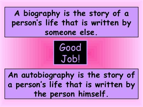 biography and autobiography what is the difference biography powerpoint for 2nd grade