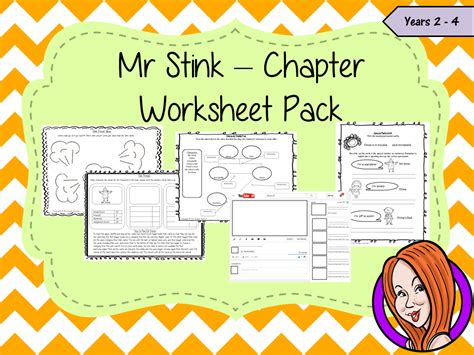 Book Review Mr By Dowler by Mr Stink Worksheet Pack By Thegingerteacher Teaching